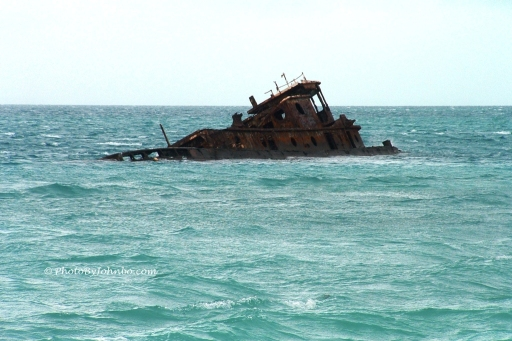 Shipwreck in the bay