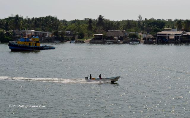 Tug and small boat