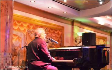 Our piano man, Jim, entertained us nightly.
