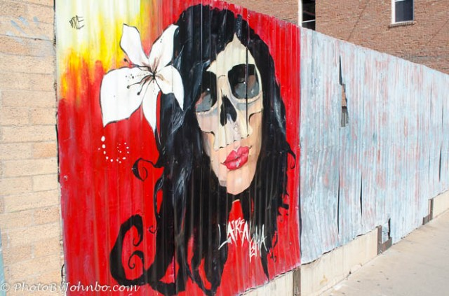 Construction Zone wall art in Bisbee, Arizona