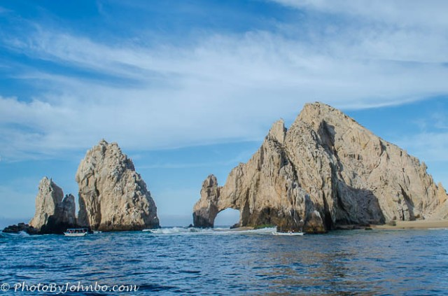 The arch at land's end where the Pacific Ocean meets the Sea of Cortez.