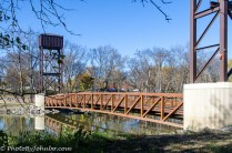 Lindenwood Park Footbridge in Fargo, ND.