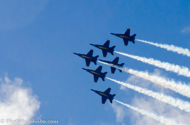 There is harmony in precision flying with the Blue Angels.