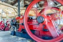 A steam engine under power.