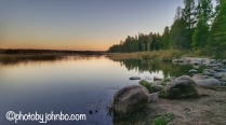 Lake Itaska at the headwaters of the Mississippi River, Minnesota.