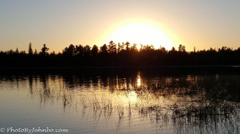 Sunset on Lake Itasca.