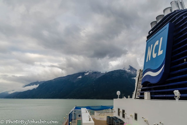 Alaska from the highest deck on the Pearl.