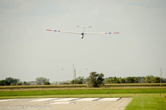 Soon, the glider must return to earth and the pilot begins a transition to landing configuration.