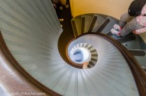 San Diego's Point Loma Lighthouse spiral staircase