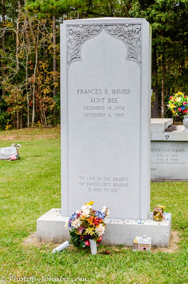 """The Pickle Story"" from a 1961 episode of The Andy Griffith Show followed Aunt Bee to her grave."