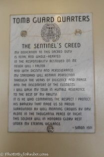 Plaque in Sentinel's Quarters