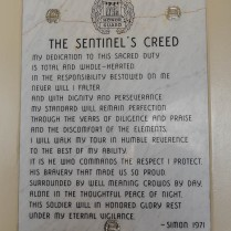 Plaque in Sentinel's Quarters