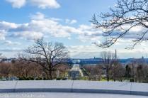 Lincoln Memorial from the JFK gravesite.