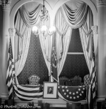 Presidential Box in Ford's theater.