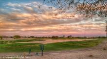 *Golf course sunset at Buckeye, AZ.