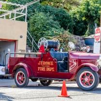 Antique fire truck.