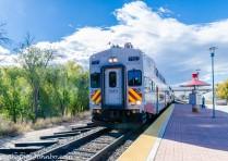 Rail Runner commuter train.