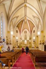 Loretto Chapel interior.