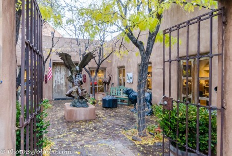 One of the many Santa Fe Art Galleries.
