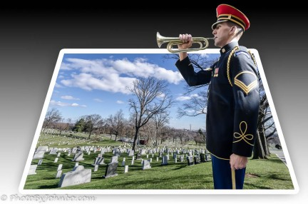 3-D popout at Arlington. Cemetery.
