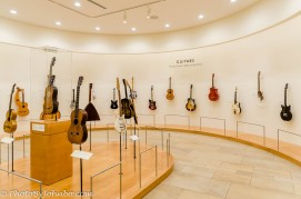 Part of the guitar display