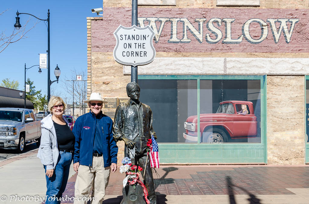 winslow arizona taking it easy at the standin on the