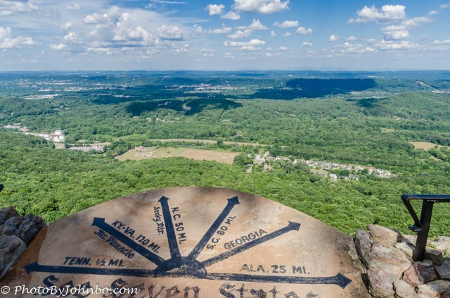 Seven-state View From Lookout Mountain