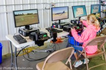 Visitors are encouraged to try their hand at flying a simulator.