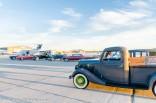 Classic vehicles on display.