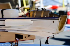 The business end of an RC model jet.