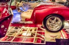 Interior and underside of the custom 1958 Corvette.