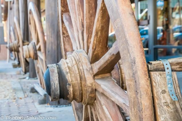 Wagon Wheel benches.