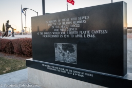 Memorial to those served at the North Platte Canteen in WW II.