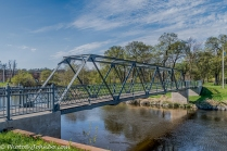 Walking bridge over the Sheyenne River in Valley City, ND.