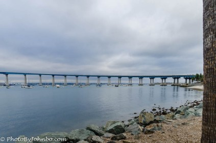 Coronado Island Bridge at San Diego, CA.