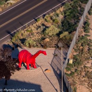 The red dinosaur