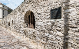 Exterior of stockade wall.