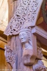 Closeup of carving detail.