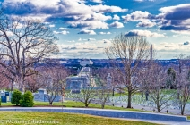 View of Washington DC from the John F. Kennedy Memorial.