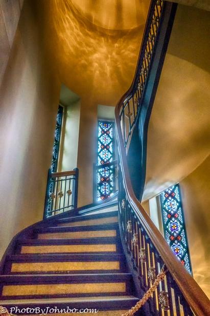 Staircase to the choir loft.