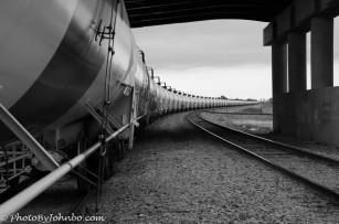 Oil cars on the tracks, Fargo, ND.