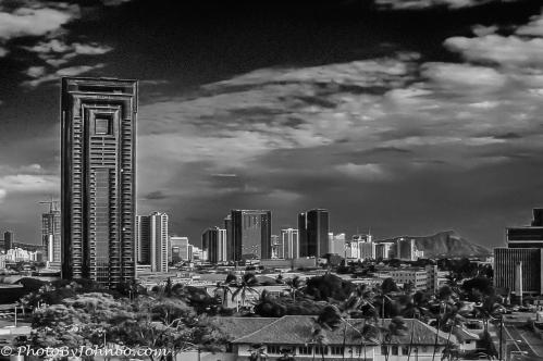 Honolulu skyline, Honolulu, HI
