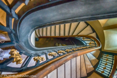 Staircase in St. Joseph's Cathedral, Sioux Falls, SD