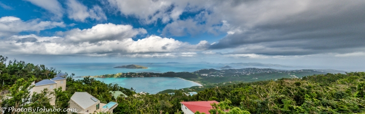 Magens Bay and Virgin Islands view