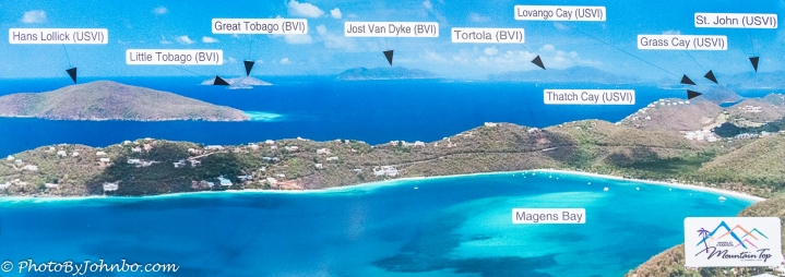 Map of nearby islands