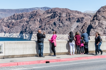Roadway and sidewalk across the dam