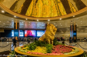 Hotel Lobby at the MGM Grand.