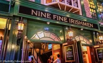 Nine Fine Irishmen Pub.