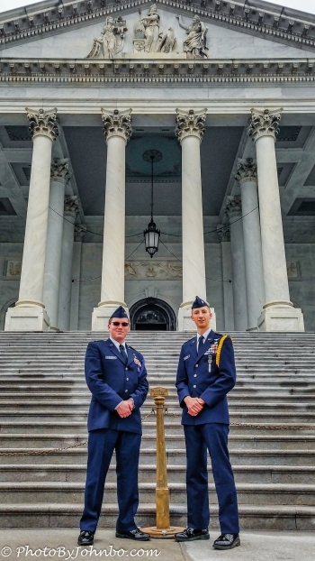 Kansas Cadets at the Capitol.