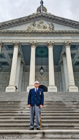 The old man in front of the Capitol.
